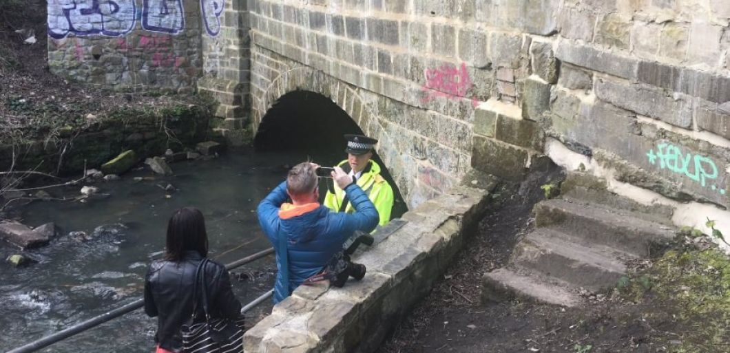 Police bust rave in a sewer