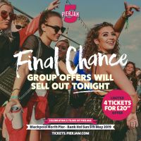 Over 79% of tickets now sold for PierJam - Group Offers will sell out by tonight!