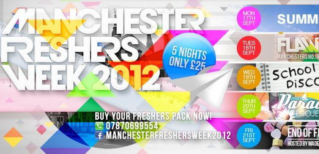 Manchester freshers week sorted for £25
