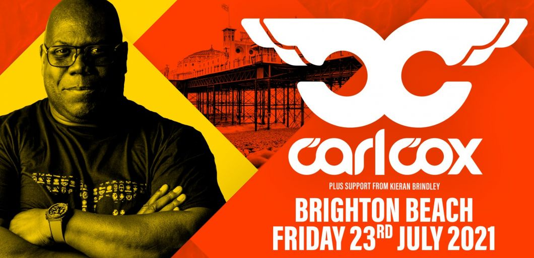 DJ Carl Cox to perform huge live show on Brighton Beach this July
