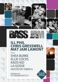 BASS JAM LAUNCHES SATURDAY 3RD AUGUST 2013