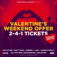 Valentines Offer: 2-4-1 Tickets on Sam Divine!