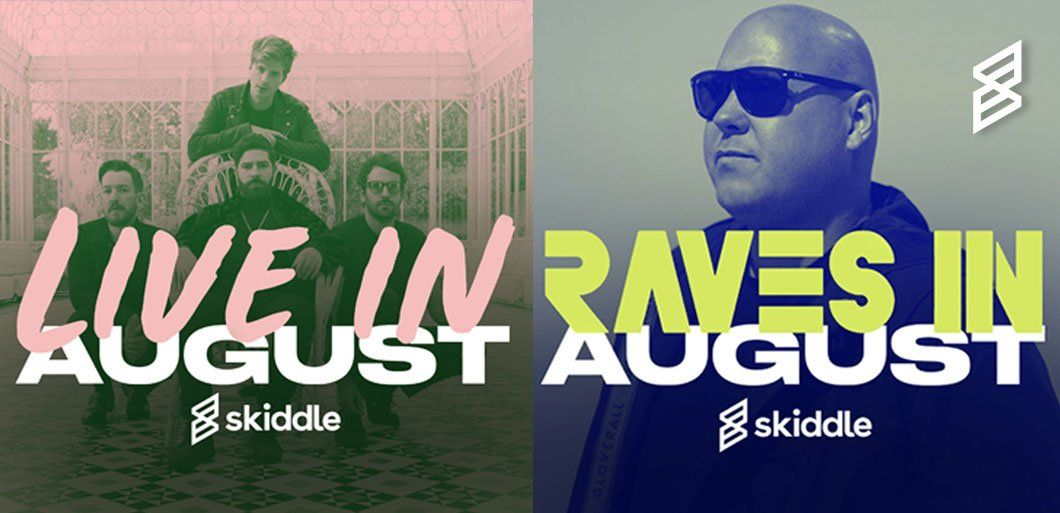 Discover artists playing live each month with our new Skiddle playlists