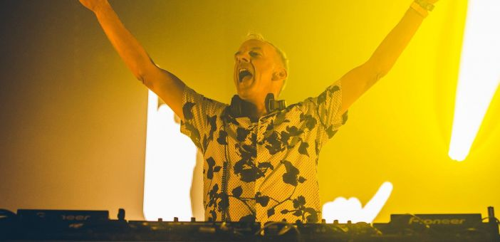 Fatboy Slim performs at baby and toddler event in Brighton