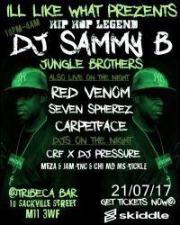 dj sammy b coming threw from jungle brothers.