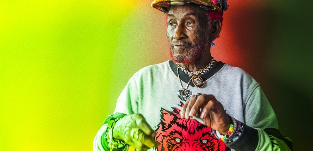 Lee Scratch Perry celebrates his 83rd birthday at a live show in Preston