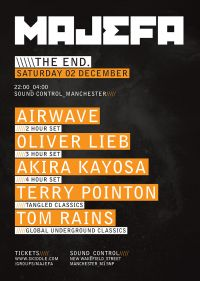 Majefa returns for one night only with massive Trance line up!