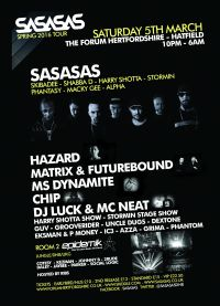 This Saturday 5th March SASASAS continue their UK Spring tour to The Forum Hertfordshire