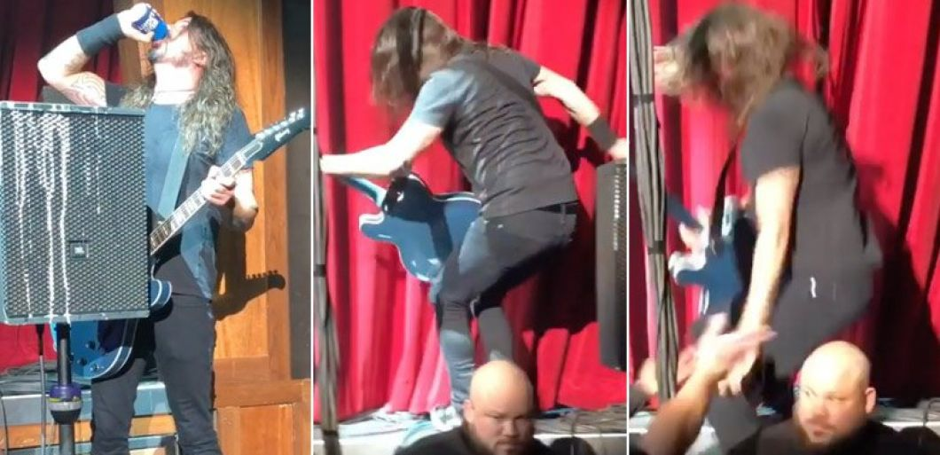 Watch Dave Grohl fall off stage (again) at Foo Fighters first gig of 2019