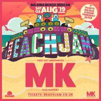MK ANNOUNCED TO HEADLINE 'BEACHJAM' SUMMER FESTIVAL, MAJUBA BEACH, REDCAR, SATURDAY 3RD AUGUST